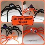 DIY Pipe Cleaner Spiders -DIY Halloween Decorations