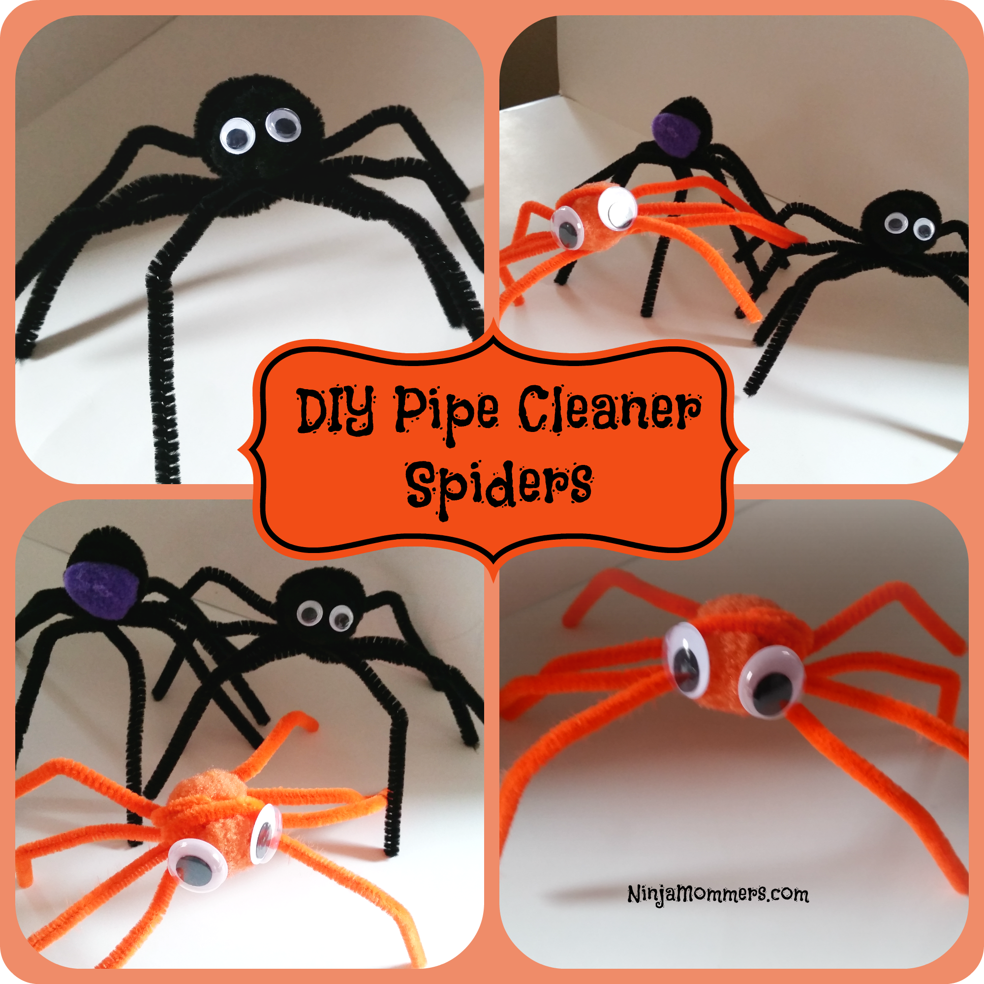 Home Decorating Colors Diy Pipe Cleaner Spiders Diy Halloween Decorations