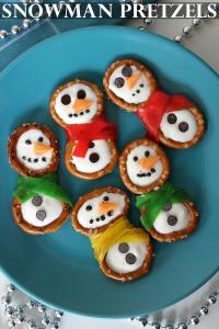 Snowman-Pretzels