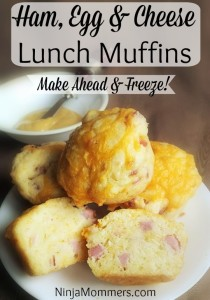Ham Egg and Cheese Muffins