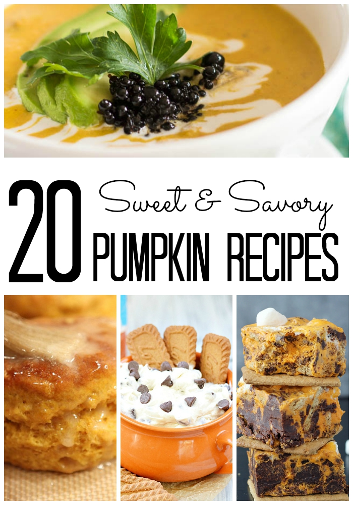 B - Sweet Savory Pumpkin Recipes - words