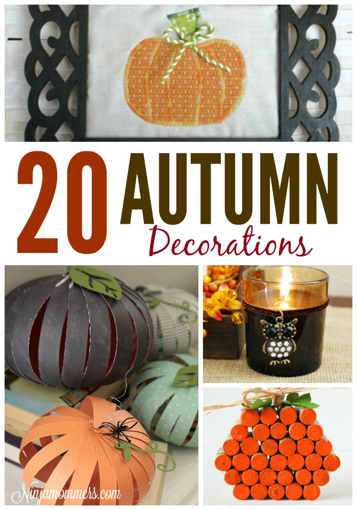 B - 20 Autumn Decorations - Words