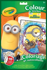 Crayola Minions Colour & Sticker Book