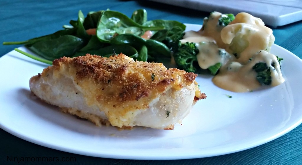 Cheddar and Garlic Crusted Chicken