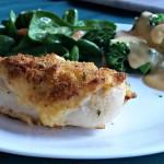 Super Moist Cheddar and Garlic Crusted Chicken Breast Recipe
